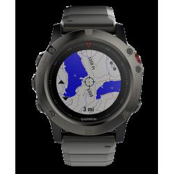 Спортивные часы FENIX 5X SAPPHIRE серые с металлическим браслетом